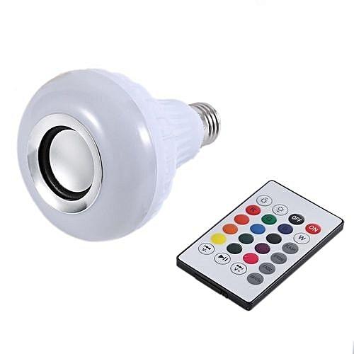 Buy generic wireless bluetooth remote control mini smart for Best bluetooth light bulb speaker