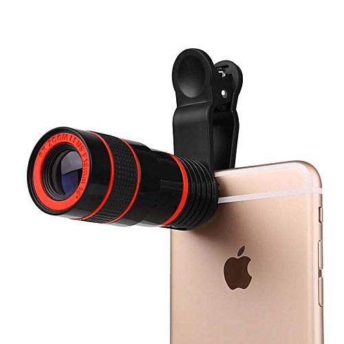 8x Mobile Phone Telescope HD Camera Phone External Telephoto Lens Mini Portable Monocular Telescope Android Apple Phone Universal Camera