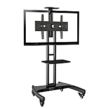"AVA1500-60-1P - 32"" - 65"" - Universal Mobile TV Cart TV Stand  for LED LCD Plasma & Curved Displays - Black"