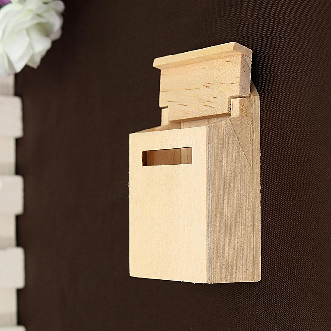 Generic Wooden Mailbox 1 12 Diy Dollhouse Miniature Furniture