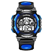 Children LED Waterproof Digital Watches -Blue