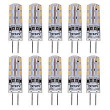 Lightme 10PCS G4 DC12V 1.5W SMD 3014 LED Dimmable Bulb Spotlight with 24 LEDs WARM WHITE LIGHT