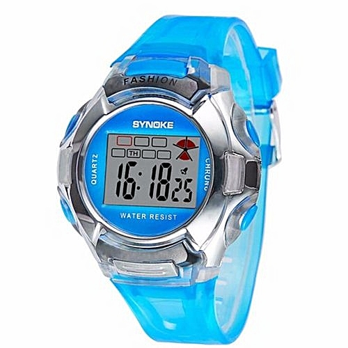 b83a550ba6c Synoke Children LED Digital Watch Girls Wrist Watch Kids Watches Boys Clock  Child Sport Digital-watch For Girl Boy Surprise Gift(Blue)