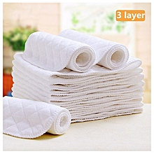 Eco Cotton diaper inserts 3 layer Cloth Washable Diaper inserts