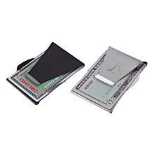 UJ Stainless Steel Money Cash Clip Clamp Credit Card Holder Pocket Wallet Slim