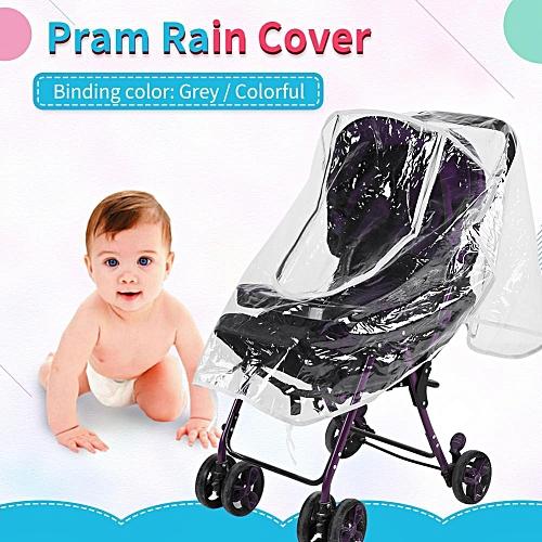 f739225b8edb Universal Waterproof Rain Cover Wind Dust Shield Open Zipper For Baby  Stroller Accessories Grey