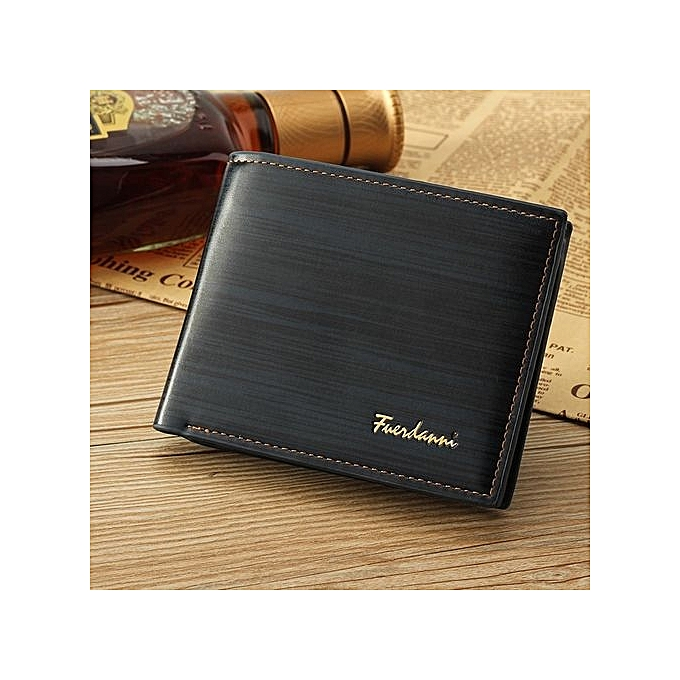 d0a1f744a46f 2019 Men Leather Brand Luxury Wallet Vintage Minimalist Short Slim Male  Purses Money Clip Credit Card Dollar Price Portomonee Style 1 + Blue