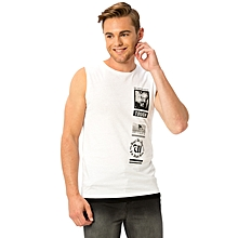 White Fashionable Regular Jersey Tank Top