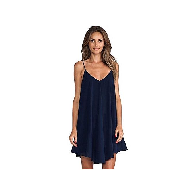 a7cec68b6 Fashion Technologg Dress Women Sleeveless Sexy Strappy Summer V Neck ...
