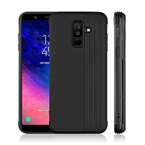 promo code 9ea14 ff438 2 In 1 Impact Resistant Hybrid Protective Case For Galaxy A6 PlusShockproof  Rubber Bumper Anti-scratch Hard Cover With Card Holder Slot And Kickstand  ...