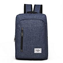 Backpack Laptop Bag Pack Travel Vintage Teenage College Double Shoulder School Pure-dark blue