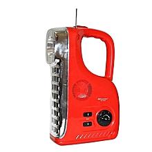 KM 7628F Radio & Rechargeable LED Emergency Lamp