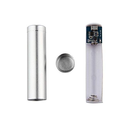 OR Portable USB Mobile Power Bank Charger Pack Box Battery Case for 1 x 18650-silver