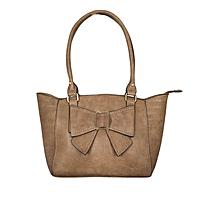 Khaki PU Leather Handbag