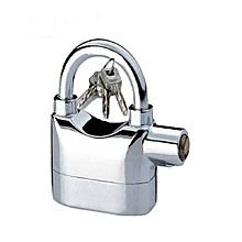 Quality Hardened Alarm Security Padlock - Silver