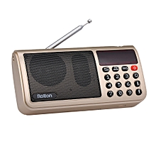Rolton T50 FM+MW+SW 3-Band Digital Radio Portable USB Wired Computer Speaker HiFi Stereo Receiver w/ Flashlight LED Display Support TF Music Play