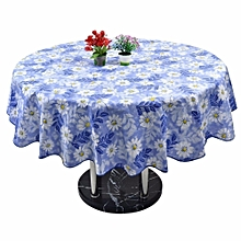 60'' Round Household Home Picnic Water Resistant Oil-proof Tablecloth PEVA Cover Daisy Pattern