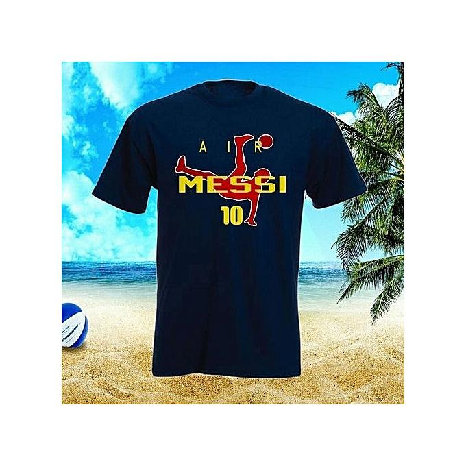 3385433f91e FC Barcelona Soccer Fan T-Shirt Summer Short Sleeve Hot Sale O Neck Design  Cotton