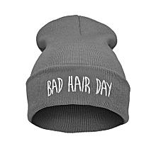 Unisex Warm Winter Fashion Bad Hair Day Wrap Head Cap Wool Hat Hip-hop Knit Beanie Hats Color:Gray