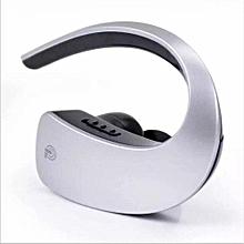 Ear Hook Bluetooth Earphones Wireless Headset Touch Key CVC6.0 Apt-x Stereo Music HD MIC Handsfree Headphone For Mobile Phone Silver