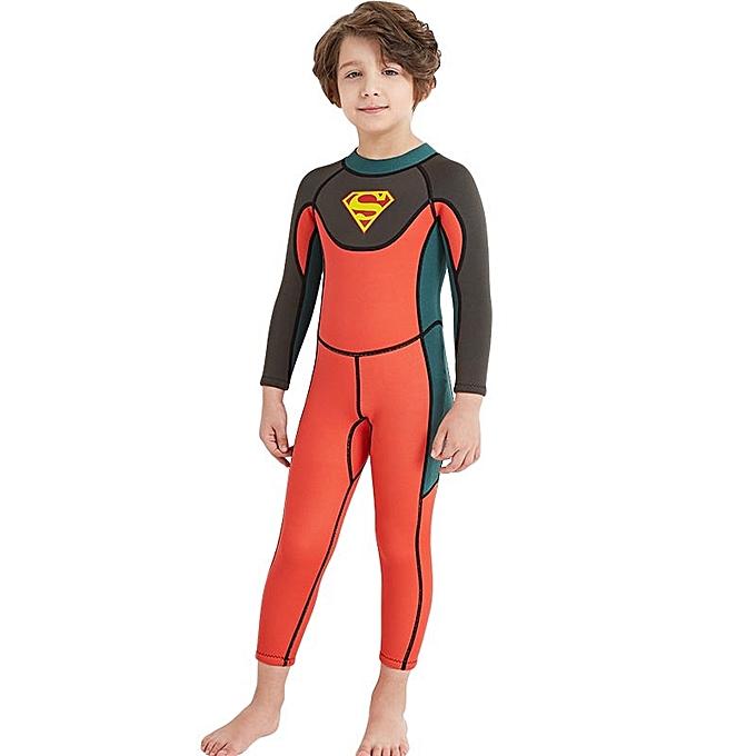ebb61904e 2.5MM Neoprene Children Boys Wetsuit Keep Warm Swimsuit Snorkeling Diving  Suit Jellyfish Surfing Rafting Suit