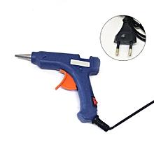 20W Mini Hot Melt Glue Gun High Temperature Melting Tool Electric Repair Tool EU Plug  Blue