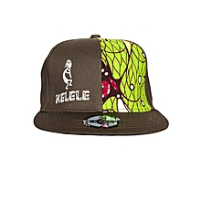 Brown And Green Snapback Hat With Kelele Color On Panel