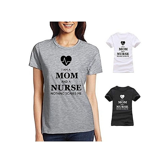 7d3f9fee19efa I Am A Mom And A Nurse Printed On Short Sleeve T Shirts Design For Women