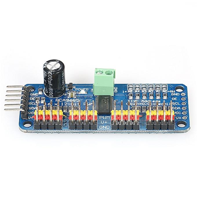 16-Channel 12-Bit PWM Servo Motor Driver Board Module Drive Controller IIC  Interface For Arduino Robot