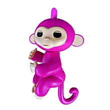 Cute Finger Toy Baby Monkey Toy Kids Gift with Flexible Head Arms Legs-Rose Red