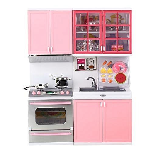 Generic Pretend Kitchen Cooking Playset Pink Plastic 1 Set Girls