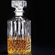 Whiskey/ Wine Decanter-Square Crystal