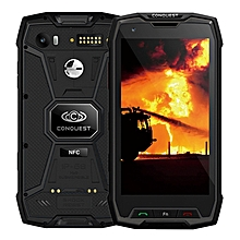 Conquest S9, 6GB+64GB, Walkie Talkie Function, 6000mAh Battery, IP68 Waterproof Dustproof Shockproof Explosionproof, Fingerprint Identification, 5.5 inch Android 7.1 MTK6757 Octa Core up to 2.36GHz, Network: 4G, NFC, External RFID, POC(Black)