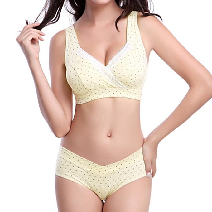 8632559d2 Maternity Underwear Cotton Bra Brief Sets Wire Free Nursing Bra Pregnant  Women Sports Sleep Breastfeeding Nurse