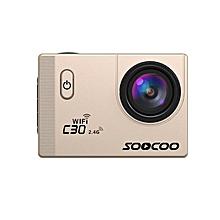 SOOCOO C30 Waterproof Action 4K Sports Camera Wifi Built-in Gyro Adjustable Viewing WWD