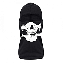 Skull Ghost Skeleton Cosplay Costume Military Hiking CyclingFull Face Mask Black (Mesh Fabric)