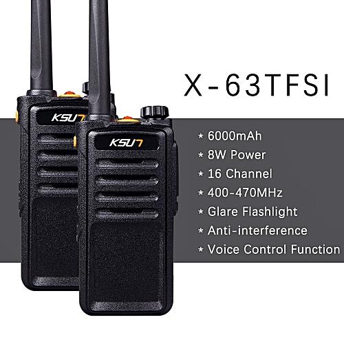 (2pcs) X-30 handheld walkie talkie portable radio 8W high power UHF  Handheld Two Way Ham Radio Communicator HF Transceiver ObeyQ