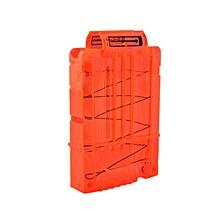 Soft Bullet Clips For Nerf Toy Gun 5 Bullets Ammo Cartridge Dart Nerf Gun Clips - Transparent Orange