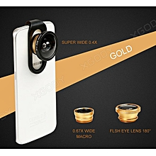 4 in 1 Camera Lens Kit Fish Eye + Wide Angle + Macro for Apple iPhone 5S 5 6S 6+