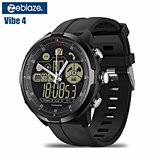 VIBE 4 HYBRID 1.24 Inch Round Bluetooth Smart Watch With Heart Rate Tracker And Passometer