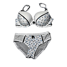 Laced Matching Women's Bra and Panty Sets (Push-up Cups) – LBF on White
