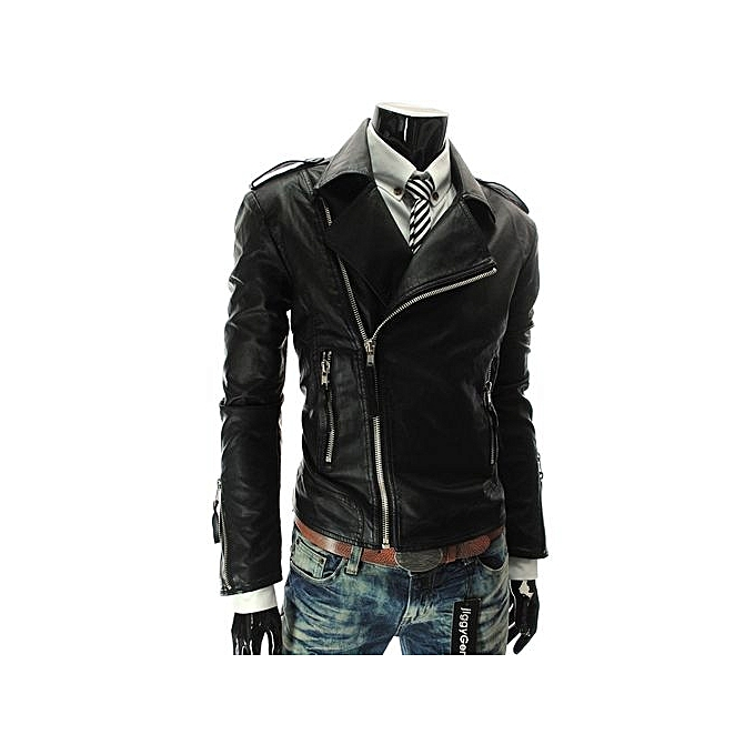 Refined Styles Arrival Autumn And Winter Motorcycle Leather Jackets Slim Men  PU Leather Jacket Bomber Biker 1615e57c76f