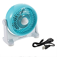 Home-Portable Mini Rotary Desktop Fan PC USB Cooler Strong Wind