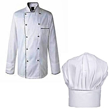White Chef Jacket & Hat