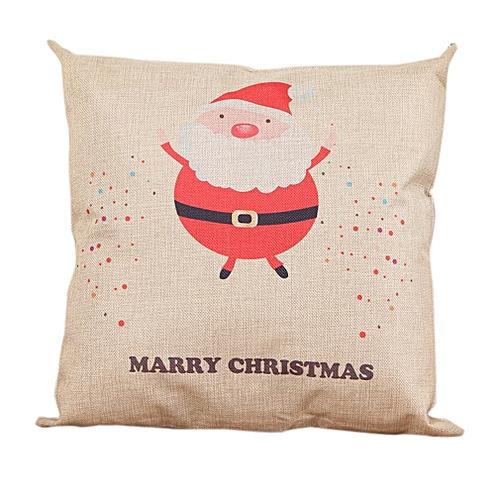 Christmas Pillows.Christmas Pillows Cover Decor Christmas Pillow Cases Linen Sofa Pillow Cover White Santa Claus