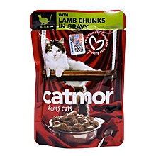 Adult Cat Food With Lamb Chunks In Gravy - 85g