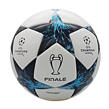 2017-2018 profession Champions League Official size 5 Football ball Material PU Professional Match Training Soccer Ball Free Gas Needles and Net Bag