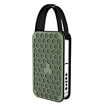 Card Can Be Read USB With Remote Control NFC Connection Bluetooth Portable Speaker Outdoor Speakers(Green) WWD