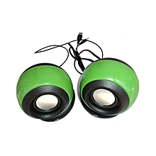 Multimedia Speakers - 2.0 USB - Green