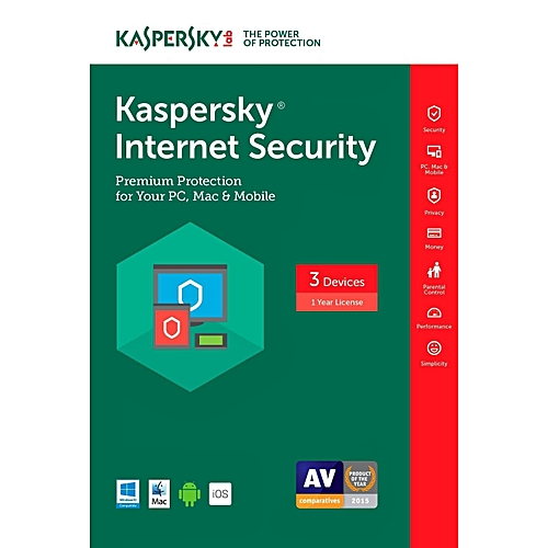 Kaspersky Internet Security - 3 User + 1 Free